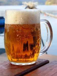 Čepované pivo Pilsner Urquell Slapy Marine